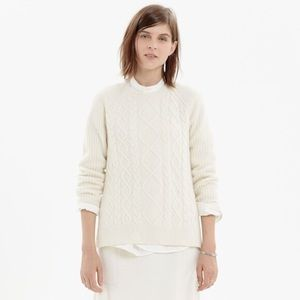 Madewell 100% Merino Wool Cable Front Sweater XS